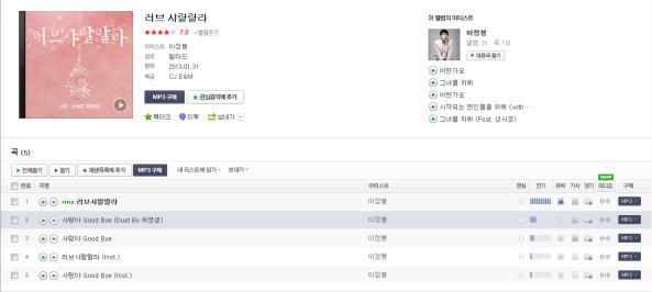 """[صوت+كلمات أغنيه]: لي يونغ بونغ في أغنية """"وداعا حبي"""" ديو او دويتو مشرك مع هيو يونغ ساينج..~"""
