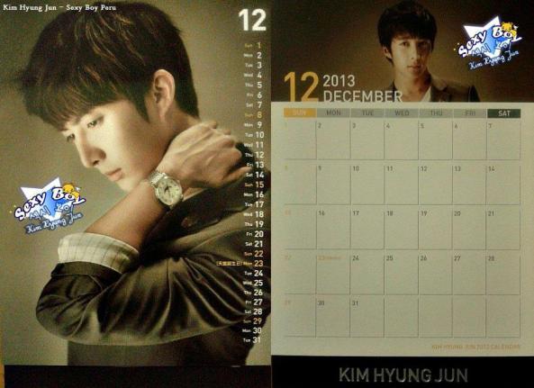 [مسح لصفحات تقويم]: كيم هيونغ جون - تقويم مكتبي لعام 2013 ..~