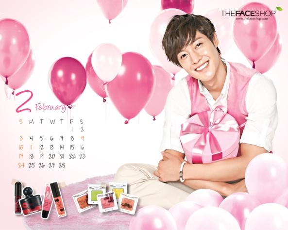 """[صوره]: كيم هيون جونغ - الوجه الاعلاني""""فيس شوب"""" لتقويم جداري لشهر فبراير 2013..~"""
