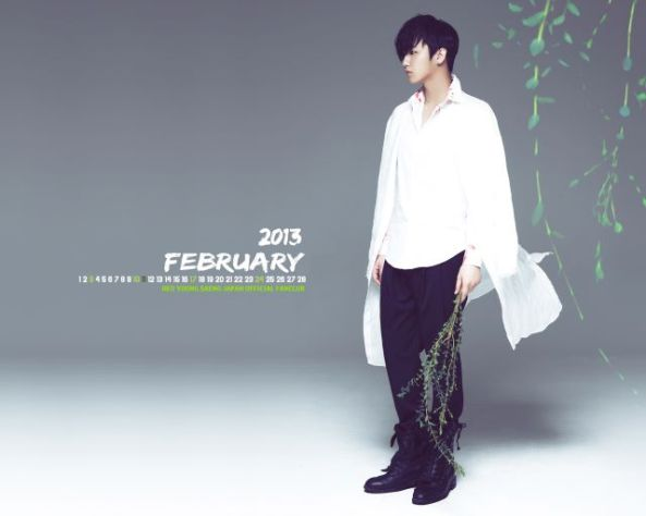 [صوره]: هيو يونغ ساينج - تقويم جداري لشهر فبراير 2013..~